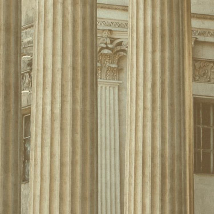 Closeup of building pillars