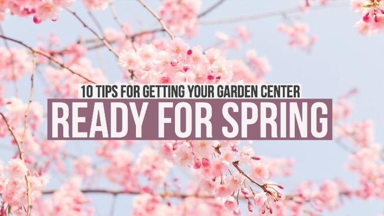 garden center ready for spring