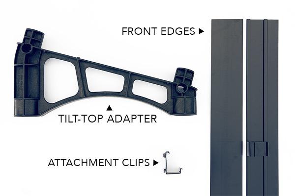 tilt top retrofit kit components