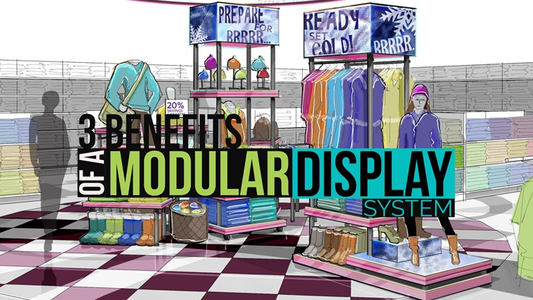 three benefits of a modular display system header