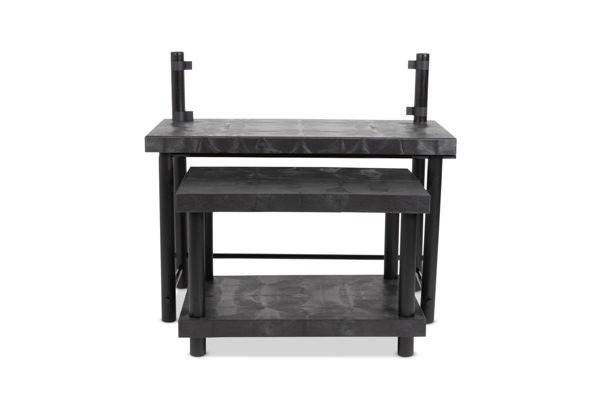 Nesting Tables Set with Shelf and Signage Posts