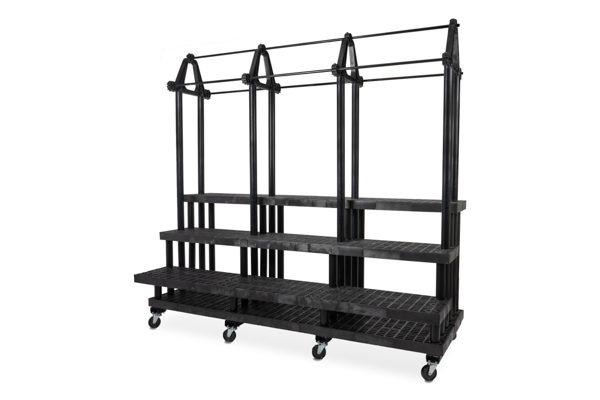 96-inch Three Step Single Sided Plant Hanger Cart