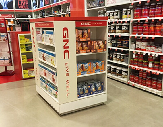 GNC Live Well display in a GNC store