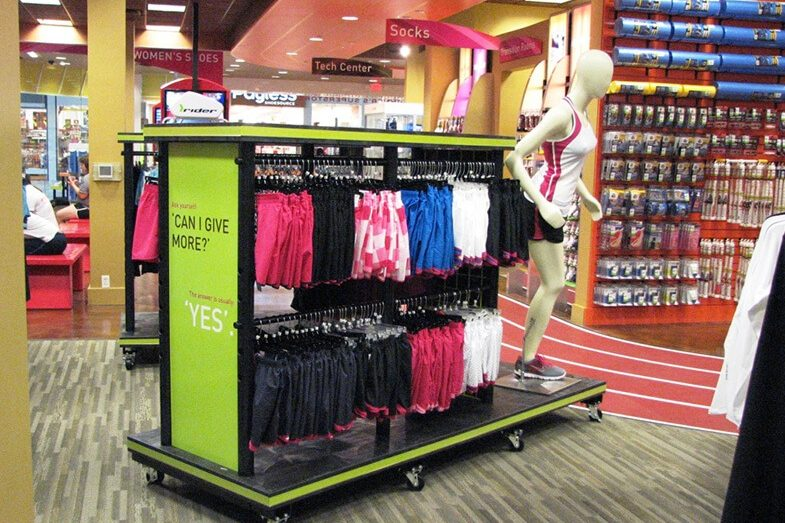 Running clothing display