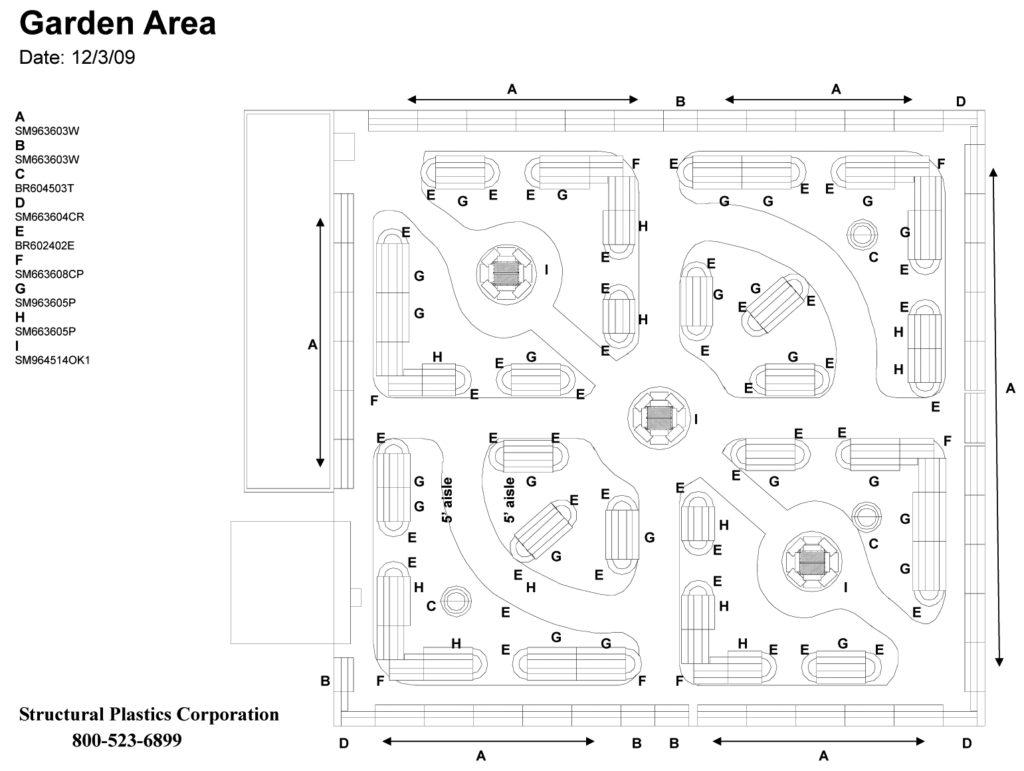 Planning schematic for Fantastic Gardens.