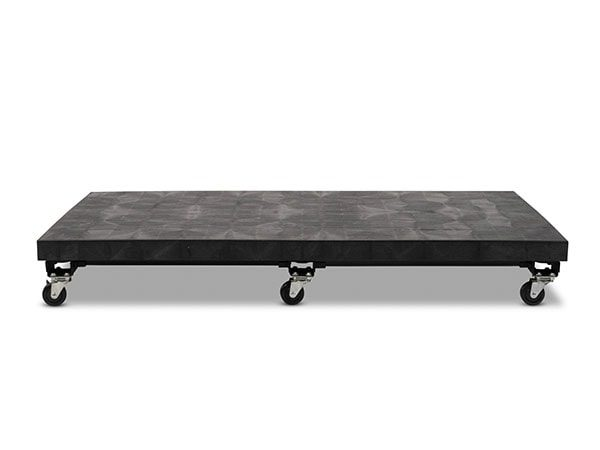 front view of plastic Solid Top Mobile Platform 66x36