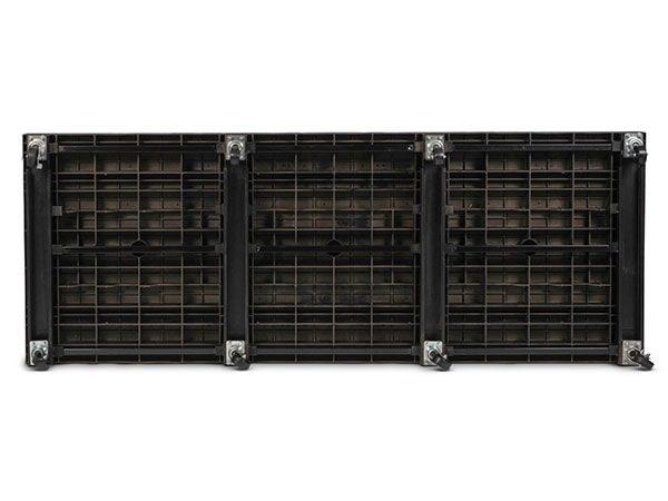underside view of plastic Solid Top Mobile Platform 96x36