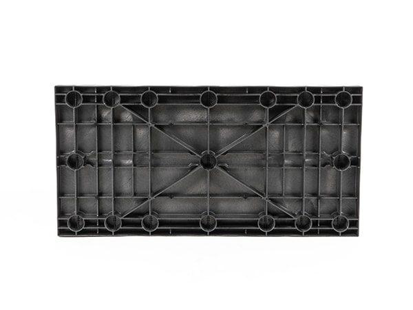 underside view of plastic 48x24 Solid Top