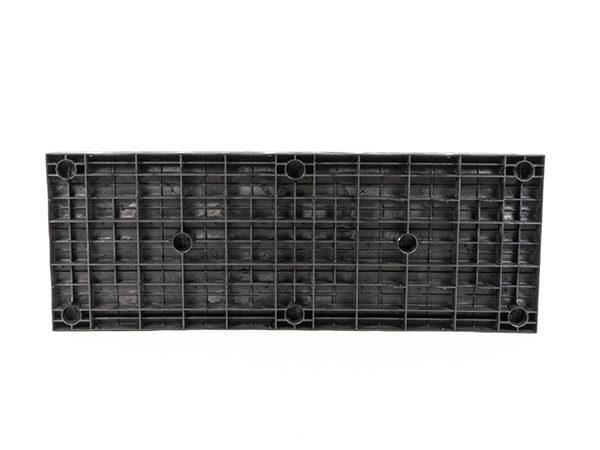 underside view of plastic 66x24 Solid Top