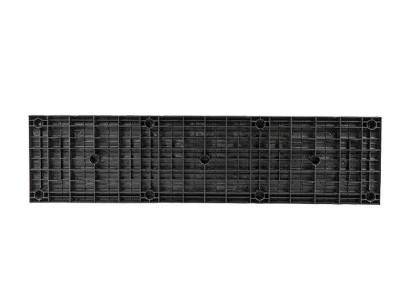 underside view of plastic 96x24 Solid Top
