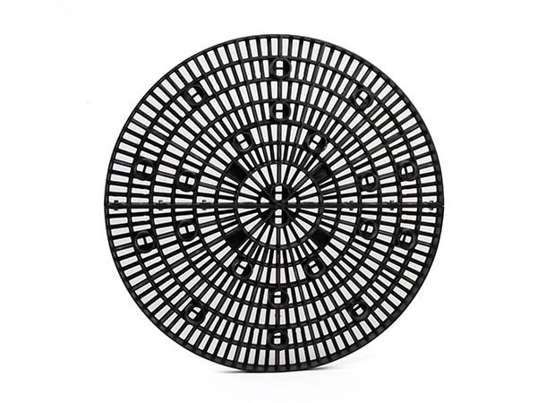 top view of plastic 48-inch Round Panel