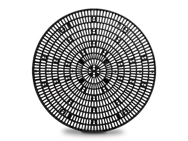 top view of plastic 60-inch Round Panel