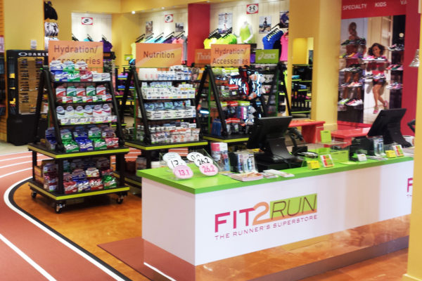 Health and fitness displays at Fit2Run